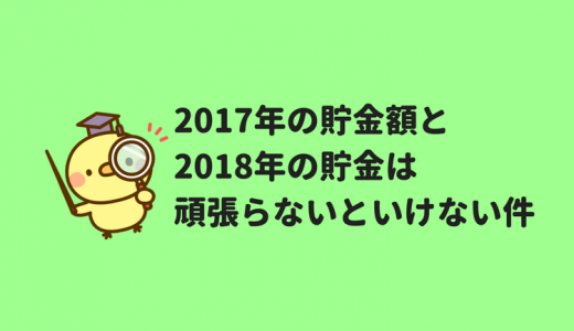 【世帯年収500万円】2017年の貯金額と2018年の貯金目標に懸念